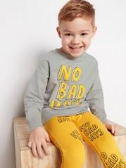 Oversize sweatshirt med tryck Grå
