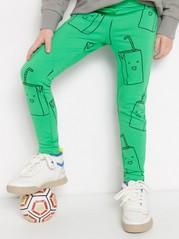 Kuvioidut leggingsit, joissa harjattu sisäpuoli Vihreä
