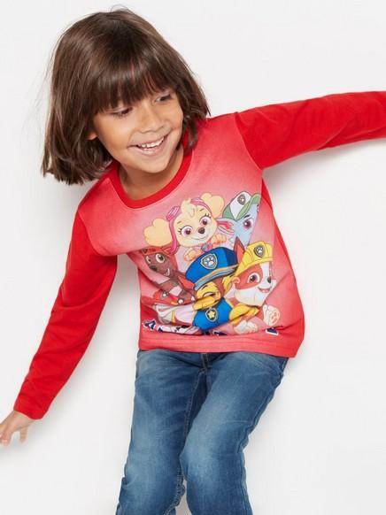 Pyžamo spotiskem Červená