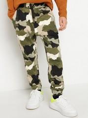 Camouflagemönstrade sweatpants Grön