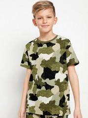 Kortermet T-skjorte av slub-jersey Grønn