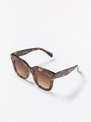 Stor firkantet solbrille Brun