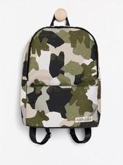 Ryggsäck med camouflage-mönster Grön