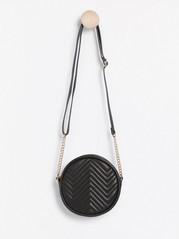 Kulatá černá kabelka Černá