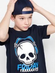 Lyhythihainen t-paita, jossa painatus Sininen
