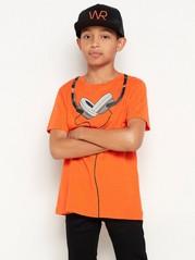 Lyhythihainen t-paita, jossa painatus Oranssi