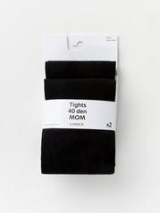 Sada 2párů punčochových kalhot Černá