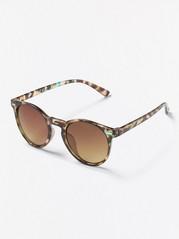 Kulaté sluneční brýle Hnědá