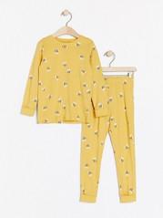 Vzorované pyžamo Žlutá