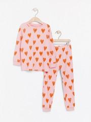 Mønstret pyjamas Rosa