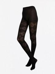 Punčochové kalhoty se vzorem Černá
