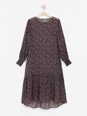 Mønstret maxi-kjole Lilla