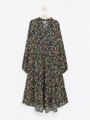 Mønstret oversized kjole Svart