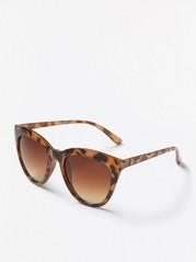 Kissamaiset aurinkolasit, joissa leopardikuvio Ruskea