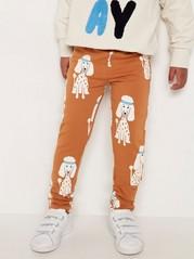 Kuvioidut leggingsit, joissa harjattu sisäpuoli Ruskea