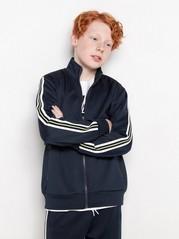 WCT-jakke med glidelås og striper på sidene Blå