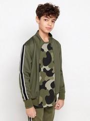 WCT-jakke med glidelås og striper på sidene Grønn