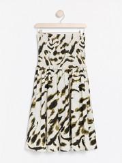 Hvit Mønstret, avkortet bluse med puffermer 399,   Lindex