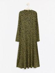 Mønstret grønn jerseykjole Grønn