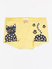 Keltaiset alushousut, joissa kissapainatus Keltainen