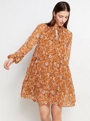 Flortynn blomstrete kjole Oransje