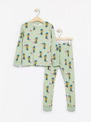 Ljusgrön pyjamas med Bamse-mönster Grön