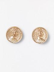Náušnice vpodobě mincí Žlutá