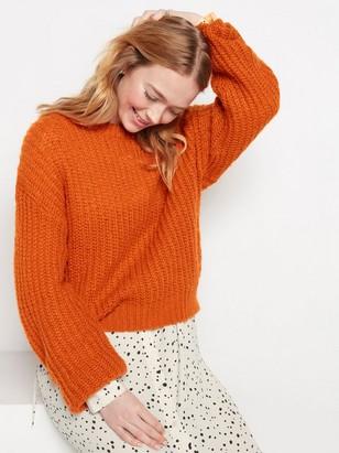 Grovstickad tröja Orange