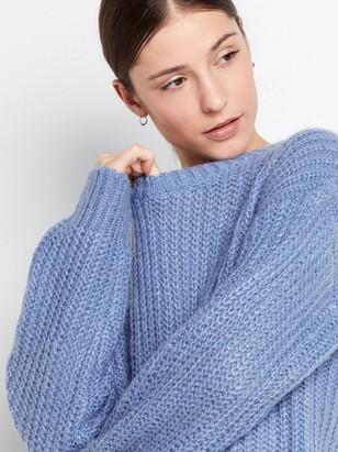 Grovstickad tröja Blå