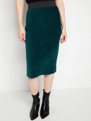 Kjol i manchestertyg Grön