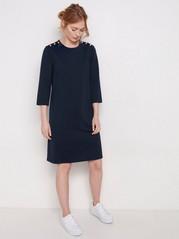 Marinblå a-linjeformad klänning Blå