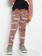 Kuvioidut leggingsit, joissa harjattu sisäpuoli Vaaleanpunainen