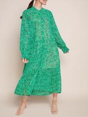 Kuviollinen vihreä maksimekko Vihreä