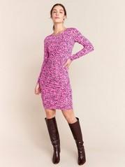 Kuvioitu pinkki mekko Vaaleanpunainen