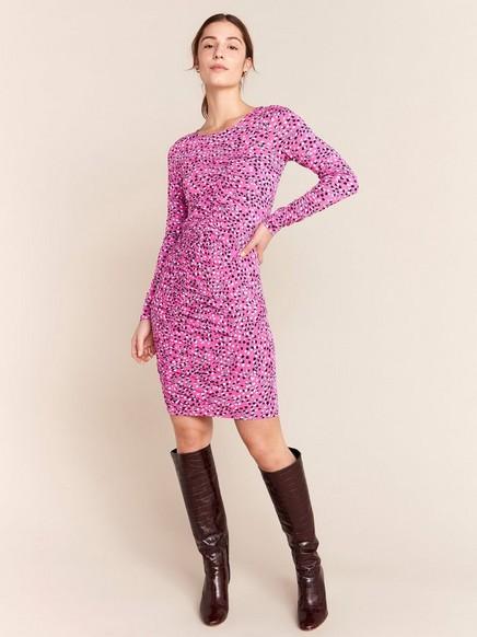 Mönstrad rosa klänning Rosa