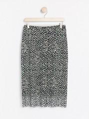 Vzorovaná síťovaná sukně Černá