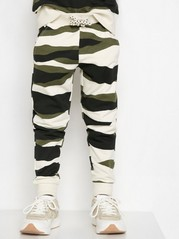 Camouflagemönstrade sweatpants Beige