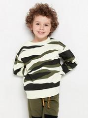 Oversize mönstrad sweatshirt Beige