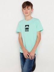 Kortärmad t-shirt med tryck Turkos