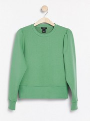 Sweatshirt med puffärm Aqua
