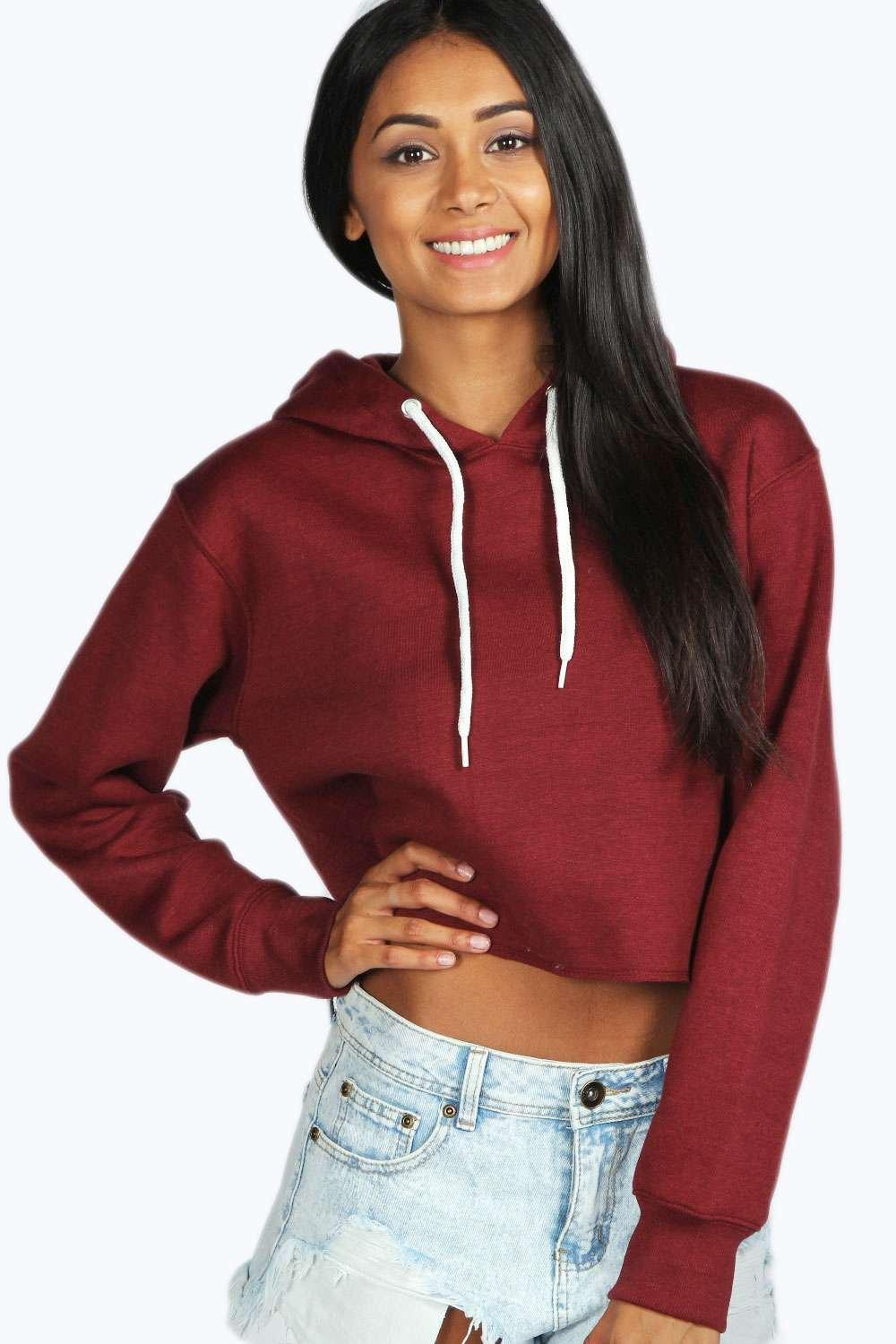The Don't Ask Why Crop Hoodie brings the street style hoodie to the cropped sweatshirt style in the brand's unique way. The top has a hooded silhouette with a cropped fit and is made from an interlock knit using viscose and elastane. This means it is velvety, has a drapey style and plenty of stretch to ensure it is always comfortable.