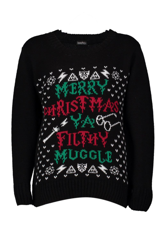 164bbda20d7 Adyuka | Isla Kids Merry Christmas Ya Filthy Muggle Christmas Jumper ...