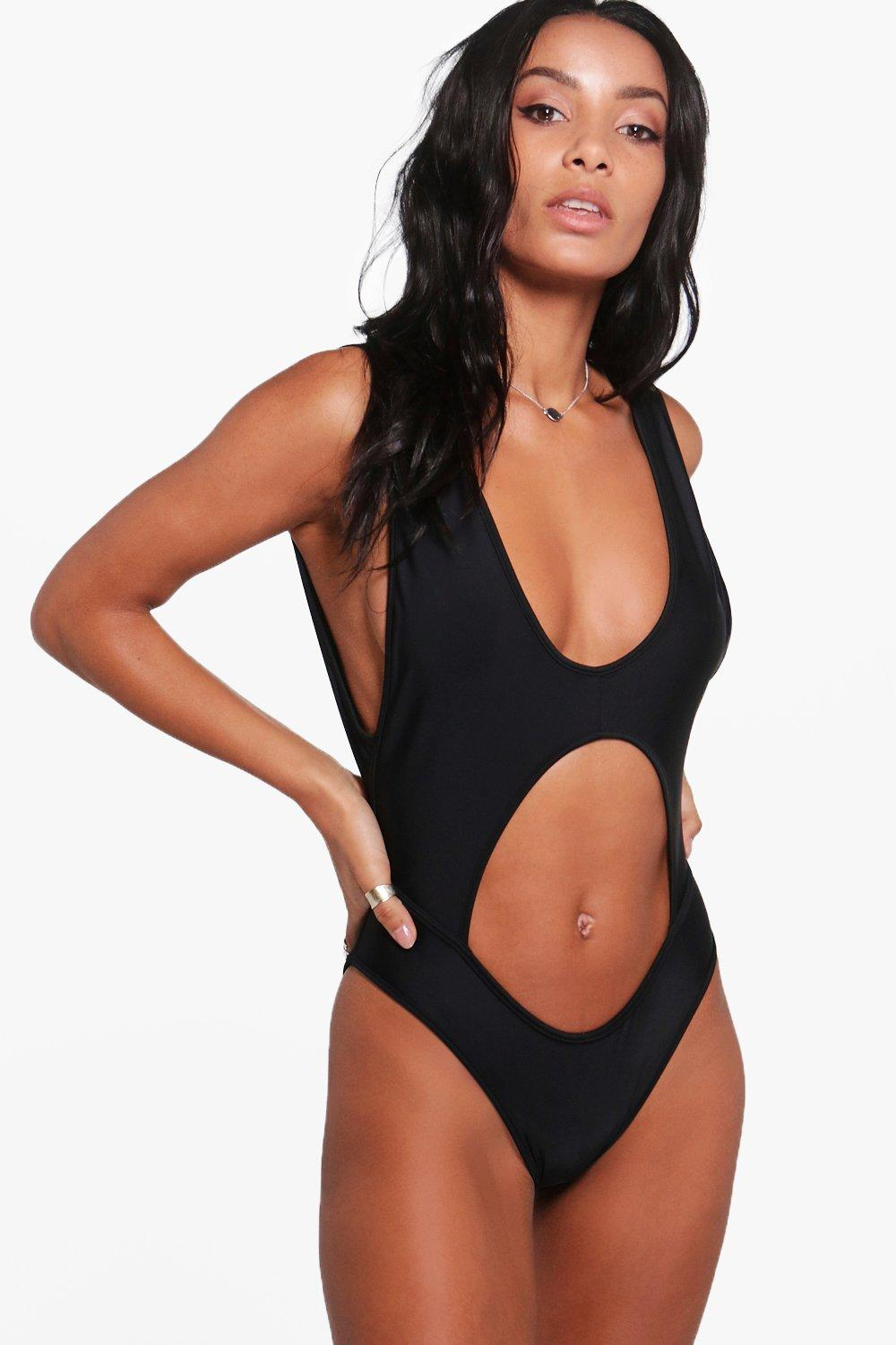Mallorca Extreme Cut Out Swimsuit at boohoo.com