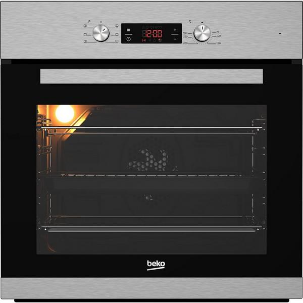 Beko CIM91X Built In Programmable Multifunction Electric Single Oven - Stainless Steel - A Rated