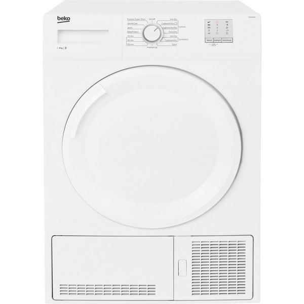Beko DTGC8001W 8kg Condenser Tumble Dryer - White - B Rated