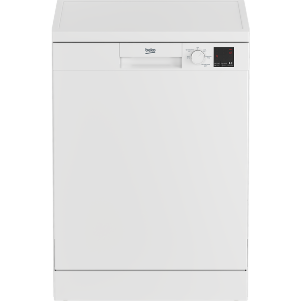 Beko DVN05C20W Full Size Dishwasher - White - 13 Place Settings