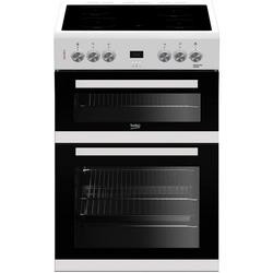 Beko EDC633W 60cm Double Oven Electric Cooker with Ceramic Hob - White - A/A Rated