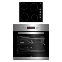 Beko CIF81X <(>&<)> CIHV21B Built In Single Oven and Ceramic Hob Package..