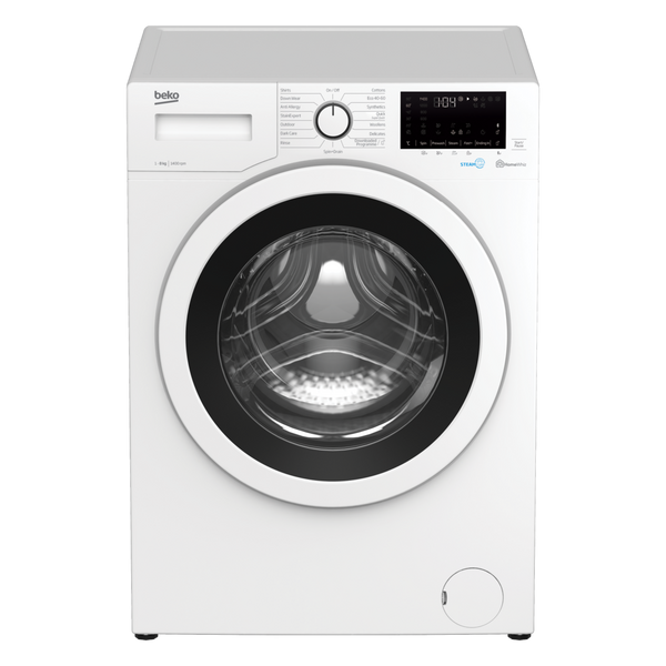 Beko WEC840522W 8kg 1400 Spin Washing Machine with SteamCure - White