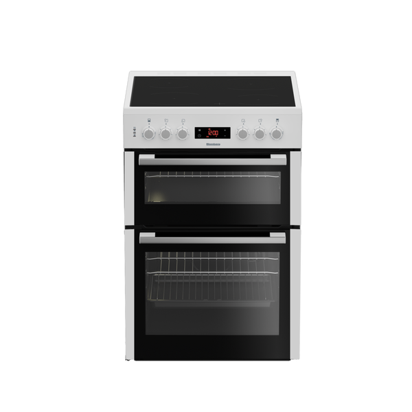 Blomberg HKN65W 60cm Double Oven Electric Cooker with Ceramic Hob - White